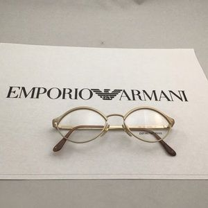 Emporio Armani Matte Gold Cat Eyeglasses 022 703